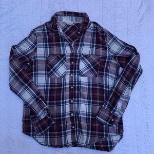 Aeropostale Long Sleeve Flannel Shirt